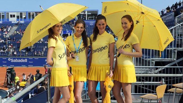 Hostesses del trofeu Conde de Godó foto: EL MATÍ DE CATALUNYA RÀDIO