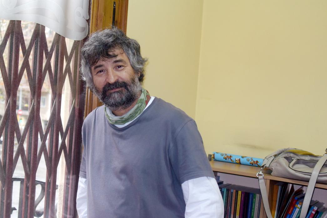Jordi Gassiot 'Koki', treballador de la UAB as qui es demanen 11 anys per participar en una roda de premsa Foto: Tomeu Ferrerr