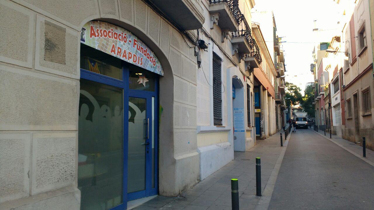 Seu de la fundació i de l'associació Arapdis a Gràcia foto: Tomeu Ferrer