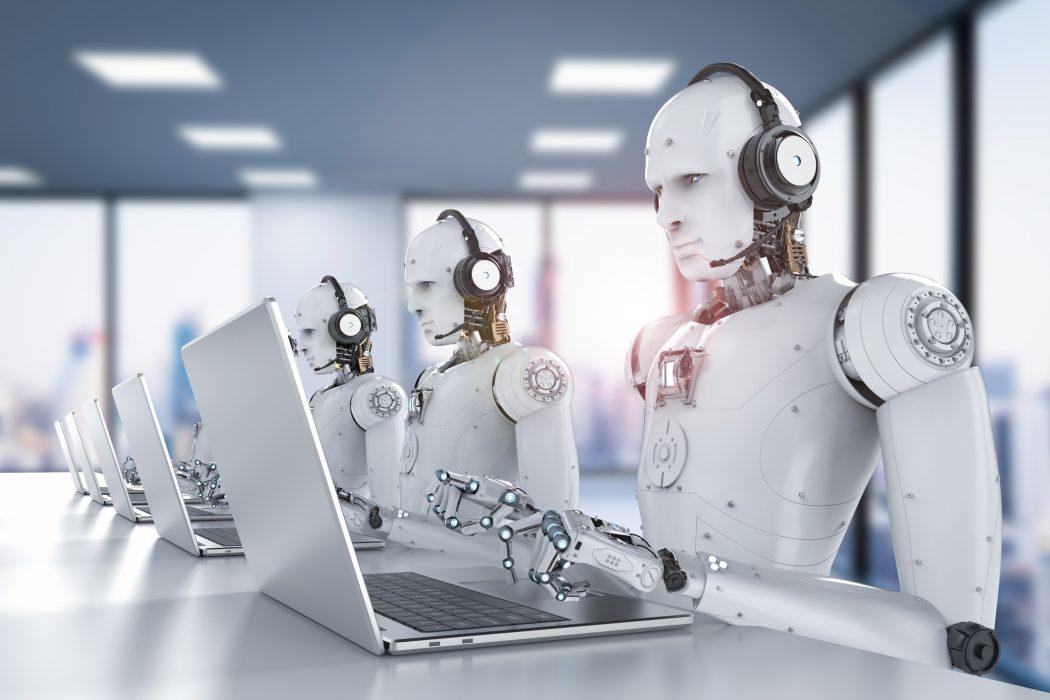 Robots en un 'call center'