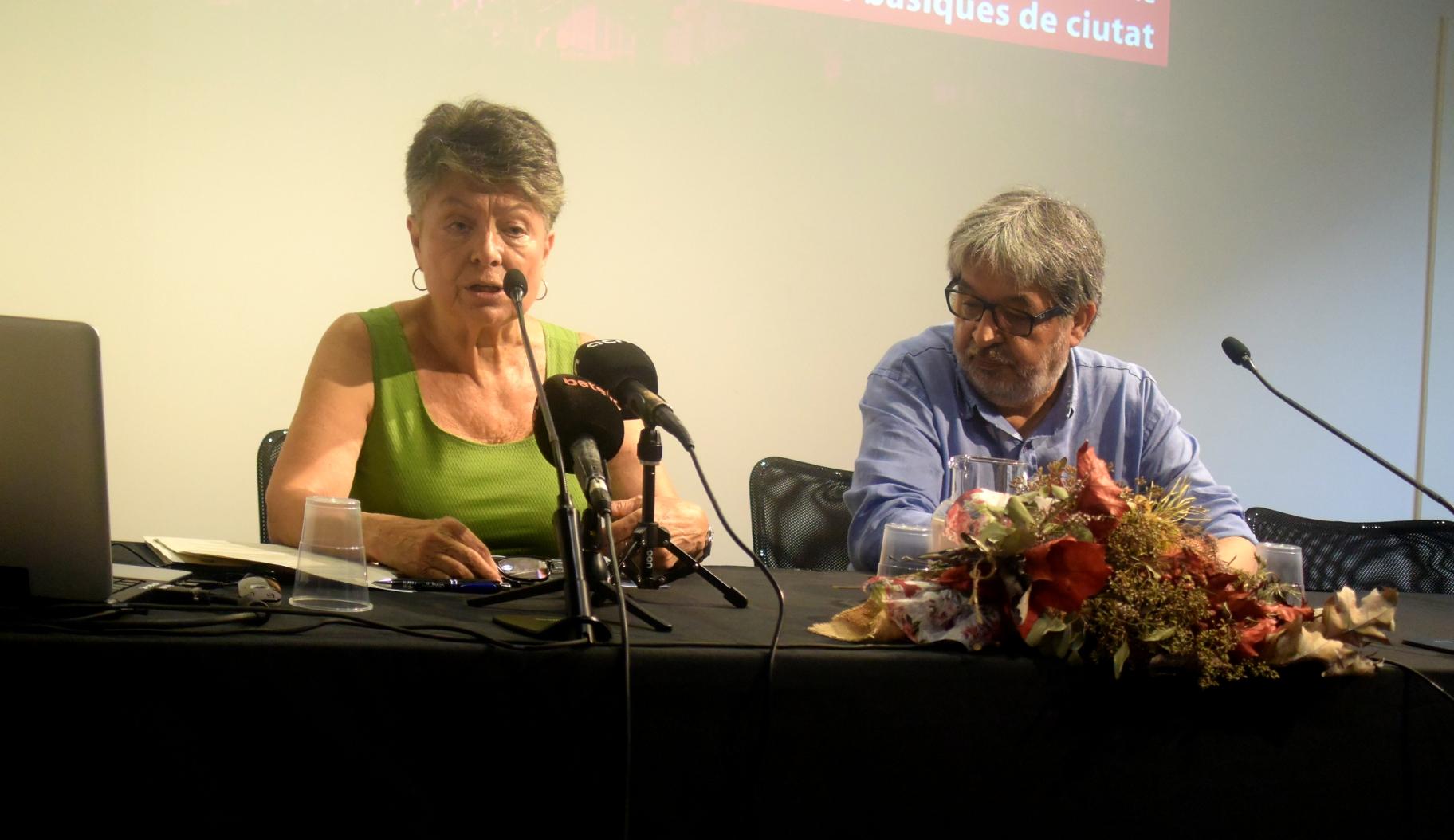 La Presidenta del CESB, Marina Subirats, durant la presentació de l'informe sobre salaris foto: Tomeu Ferrer