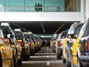 Concentració de taxistes en una mobiització anterior foto: Diario.es