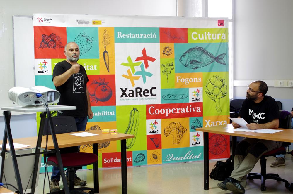 Els impulsors de la Xarec han fet presentacions al territori. En aquest cas a Manresa. Foto Xarec