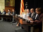 Firma de l'acord AIC amb patronal, CCOO i UGT de Catalunya foto: Tomeu Ferrer