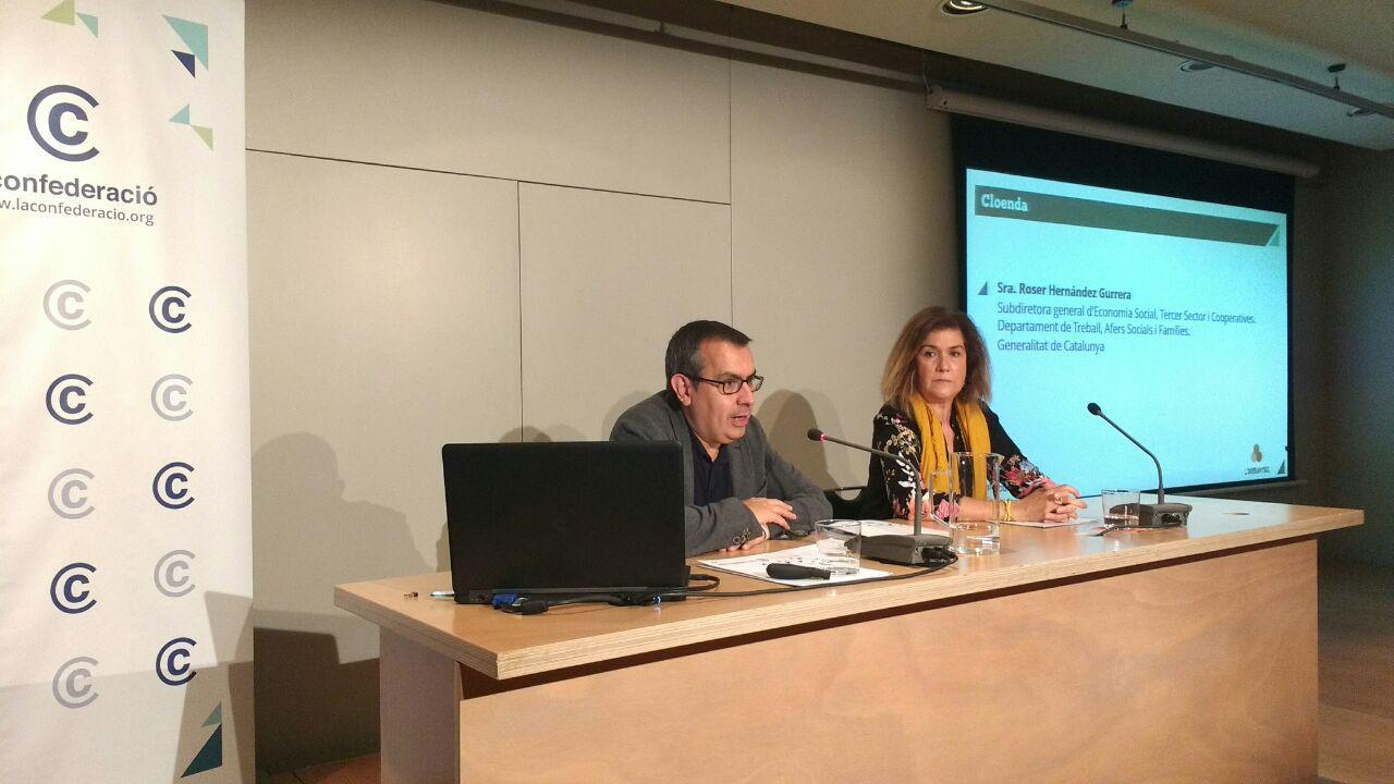 Presentació anuari laboral tercer sector a Catalunya foto Tomeu Ferrer