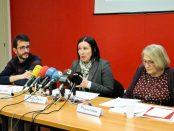 D'esquerra a dreta, Xavi Loza, Sonia Fuentes i Teresa Crespo d'ECAS foto: ECAS