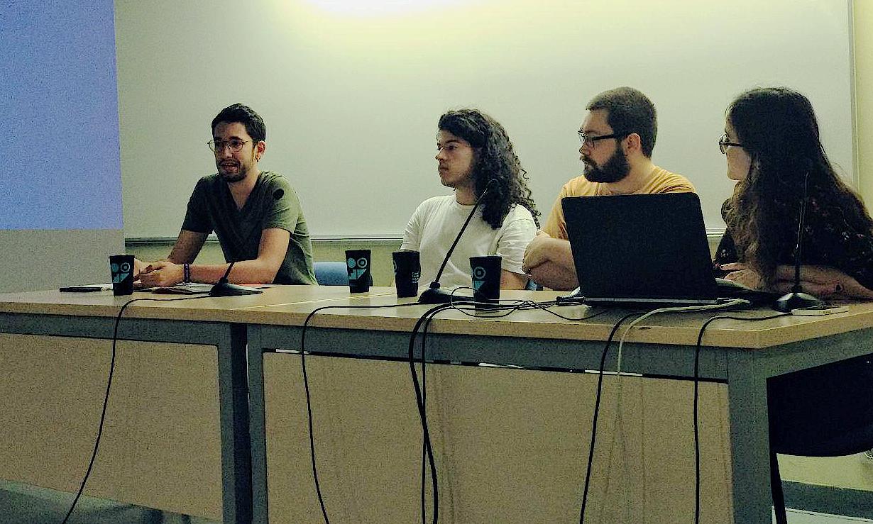 Dorca, Cano, Anzaldi i Claramunt durant la presentació de la campanya foto Tomeu Ferrer