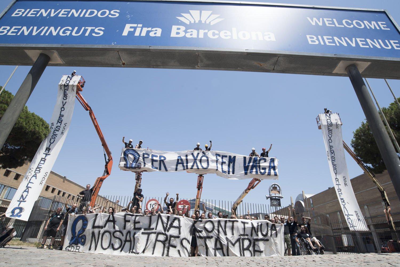 La vaga dels 'riggers' que munten els grans escenaris del SONAR tira endavant després que la Fira no els reconegui com a interlocutors
