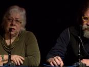 L'economista Daniel Raventós i la politòloga i antropòloga Julie Wark